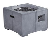 Dante Propane Fire Pit, Gray, Concrete Fiber