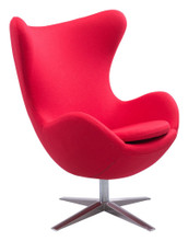 Skien Occasional Chair, Red, Fabric
