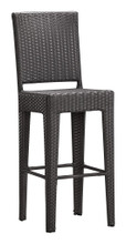 Anguilla Bar Chair ( Set of 2 ), Gray, Rattan