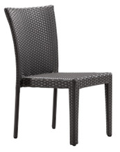 Arica Dining Chair, Gray, Rattan, Set of 2