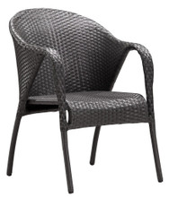 Montezuma Dining Chair, Gray, Rattan, Set of 2