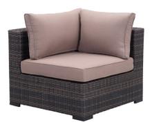 Bocagrande  Corner Chair, Beige, Rattan
