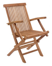 Regatta Folding Arm Chair ( Set of 2 ), Brown, Wood