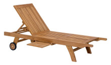 Starboard Chaise Lounge, Brown, Wood