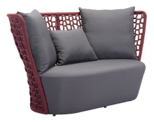 Faye Bay Beach Sofa, Gray, Fabric