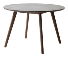 Elite Dining Table, Gray, Stone