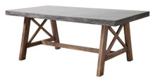 Ford Dining Table, Gray, Stone
