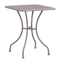 Oz Dining Square Table, Beige, Metal