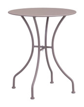 Oz Dining Round Table, Beige, Metal