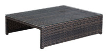 Delray Coffee Table, Brown, Rattan