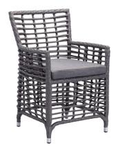 Sandbanks Dining Chair ( Set of 2 ), Gray, Fabric