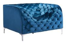 Providence Arm Chair, Blue, Fabric