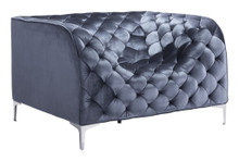 Providence Arm Chair, Gray, Fabric