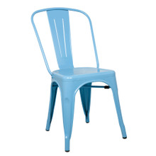 Talix Chair, Blue, Metal