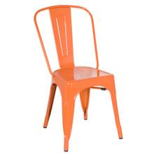 Talix Chair, Orange, Metal