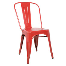 Talix Chair, Red, Metal