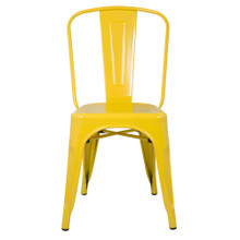 Talix Chair, Yellow, Metal