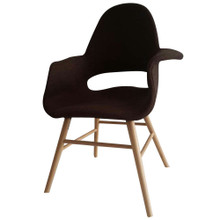 Eero Dining Chair, Brown, Fabric