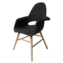 Eero Dining Chair, Gray, Fabric