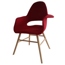 Eero Dining Chair, Red, Fabric