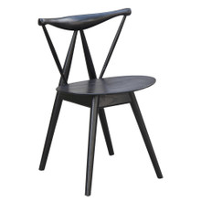 Fronter Dining Chair, Black, Wood