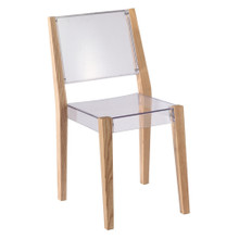 Lhosta Dining Side Chair, Natural, Plastic