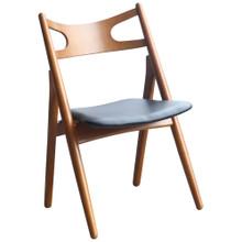 Oksana Chair, Walnut, Faux Leather