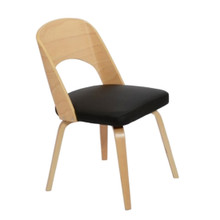 Bendino Dining Chair, Black, Leather