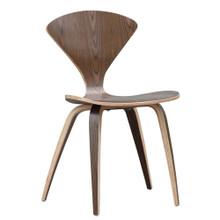 Wooden Side Chair, Walnut, Wood
