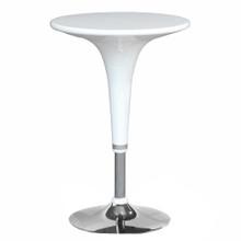 Razzle Counter Table, White, Metal