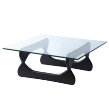 Guchi Coffee Table, Black, Glass