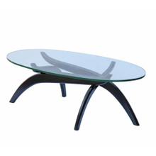 Spider Coffee Table, Black, Glass