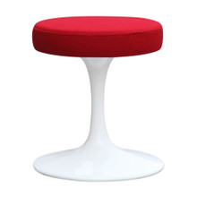 "Flower Stool Chair 16"", Red, Aluminum"