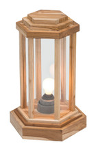 Latter Small Floor Lamp Natural, Wood