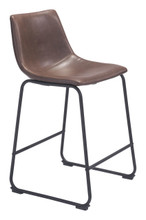 Smart Counter Chair Vintage Espresso, Faux Leather