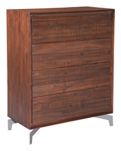 Perth High Chest Chestnut, Wood