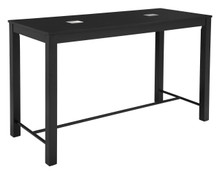 Odin Bar Table Black, Wood USB