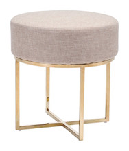 Bon Stool Beige & Stainless, Fabric