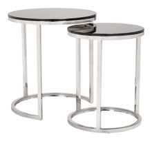 Rem Coffee Table Sets Black & Stainless, Glass