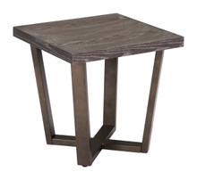 Brooklyn Side Table Gray Oak & A.Brass, Wood