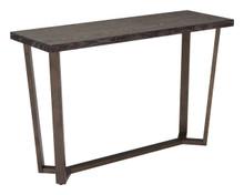 Brooklyn Console Table Gray Oak & A.Brass, Wood