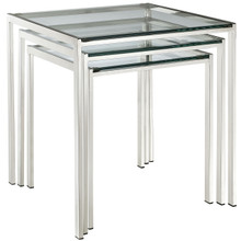 Nimble Nesting Table in Silver