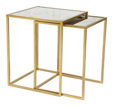 Calais Nesting Tables Brass, Metal
