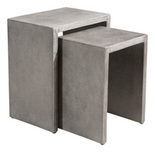 Mom Nesting Side Tables Cement, Stone