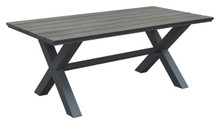 Bodega Dining Table Ind. Gray & Brown, Plastic