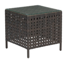 Pinery Side Table Brown, Rattan
