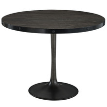 Drive Wood Top Dining Table in Black Set