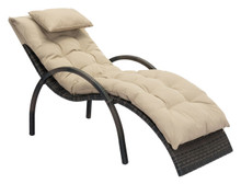 Eggertz Beach Chaise Lounge Brown & Beige, Rattan