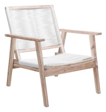 South Port Arm Chair White Wash & White, Wood