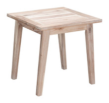South Port End Table White Wash , Wood